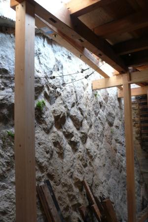 内部の石垣