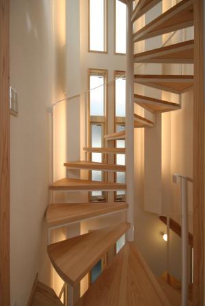羽根木の家・螺旋階段