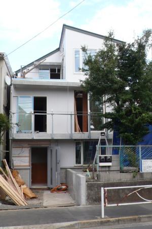 もうすぐ竣工・赤堤の家