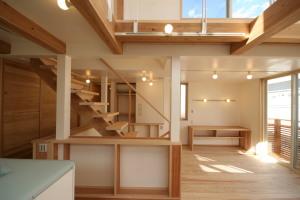 大井町の家・ロフトに行く階段