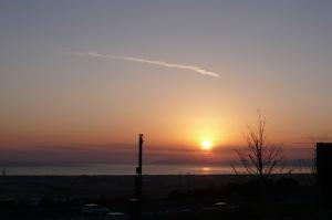 駿河湾の夕映え