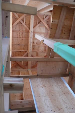 ペントハウス階の天井下地