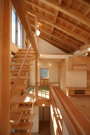 西荻窪の家・階段と吹抜