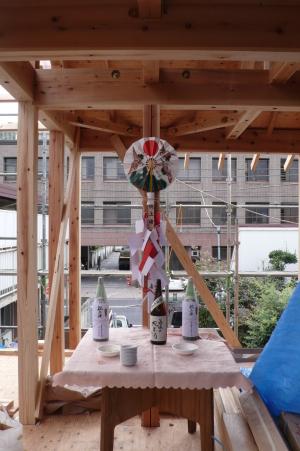 石神井公園の家・上棟式1