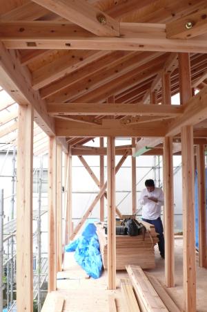 石神井公園の家・上棟式2