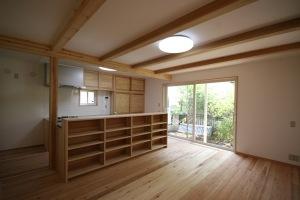 武蔵小金井の家・リビング・ダイニング1