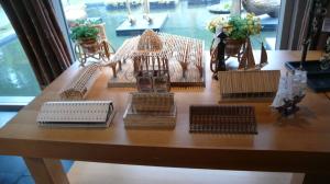 竹建築模型1