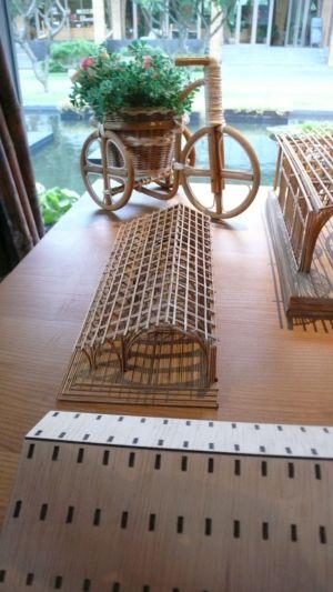竹建築模型4
