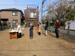 善福寺川の家・地鎮祭